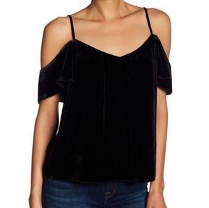 Joie adorlee cold shoulder velvet top